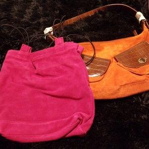 Handbags - NWOT Suede purses